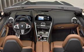 Picture interior, BMW, convertible, salon, 2019, BMW M8, M8, F91, M8 Competition Convertible, M8 Convertible