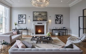 Picture interior, fireplace, living room, Essendon, Diimsdale house