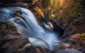 Picture forest, mountains, nature, rocks, waterfall, Spain, national Park, Ордеса