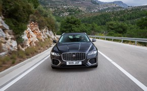 Picture Jaguar, front view, universal, on the road, Jaguar XF, 2020, XF, XF Sportbrake