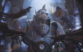 Picture Robot, Fur, Robot, Fiction, Fiction, Giant, Giant, Construction, Assembly, Alejandro Burdisio, by Alejandro Burdisio, Argentum …