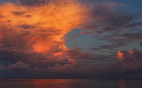 Picture the sky, sunset, Cloud