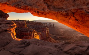 Picture light, rocks, USA, America, canyons