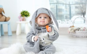 Picture boy, Bunny, baby, suit