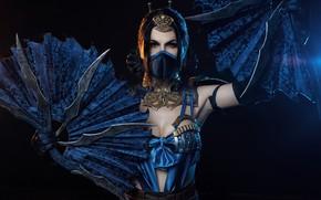 Wallpaper girl, mask, cosplay, shuriken