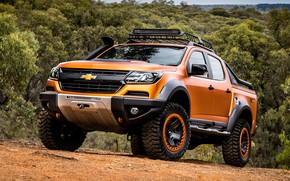 Picture Chevrolet, pickup, 4x4, Colorado, Z71, 2016, Xtreme Concept, in a forest