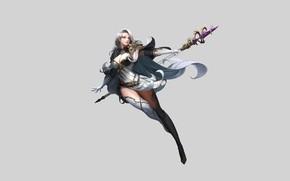Picture Girl, Fantasy, Beautiful, Sexy, Art, Style, Minimalism, Characters, Dress, Goddess, Figure, Daeho Cha