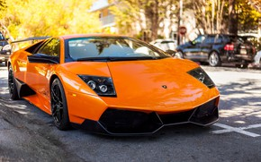 Picture Lamborghini, Murcielago, front, orange, LP 670-4