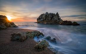 Picture rocks, coast, Spain, Roca Grossa