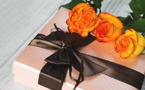 Picture holiday, gift, roses, Mother's day