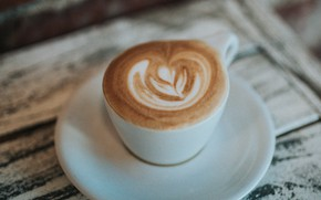 Picture coffee, Cup, drink, saucer, foam