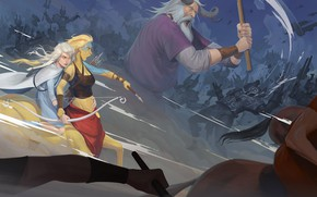 Picture army, bow, giant, art, battle, centaur, Archer, Banner Saga