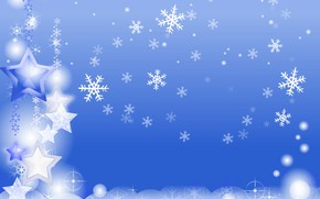 Picture winter, snowflakes, holiday, new year, postcard
