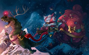 Picture Winter, Figure, Snow, Christmas, Holiday, Santa Claus, Art, Christmas, Art, Dinosaur, Santa Claus, Gifts, Illustration, …