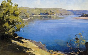 Picture landscape, picture, 1922, Penleigh Boyd, Penley Boyd, The Hawkesbury River