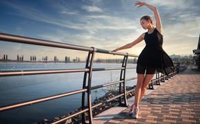 Picture girl, pose, dress, ballerina, promenade, Dmitry Shulgin