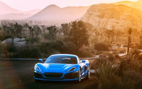 Picture supercar, front view, 2018, Rimac, electric car, C-Two, California Edition