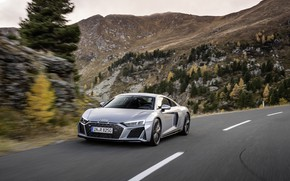 Picture road, Audi, speed, supercar, Audi R8, Coupe, V10, 2020, RWD