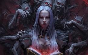 Picture the demon, fantasy, art, fragment, Stefan Koidl, The Demon Book