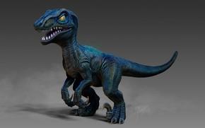 Picture rendering, dinosaur, art, TingHan Wu, My Blue(小藍)