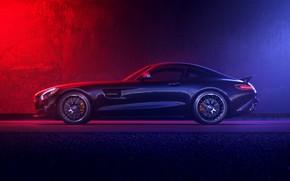 Picture Auto, Machine, Mercedes, Car, Art, Render, Design, AMG, Supercar, Supercar, Sports car, Sportcar, Side view, …