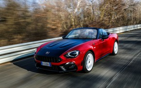 Picture speed, Roadster, spider, Abarth, black and red, 124 Spider, 2019, Rally Tribute