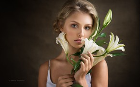 Picture look, girl, Lily, portrait, Alisa Tarasenko, Denis Drozhzhin