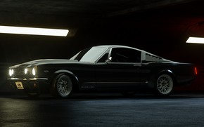 Picture Mustang, Ford, Retro, Machine, Ford Mustang, 1965, Fastback, Rendering, Ford Mustang Fastback, Transport & Vehicles, …