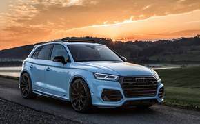 Picture sunset, Audi, 2018, crossover, ABBOT, Widebody, SQ5