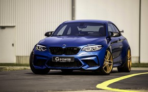 Picture blue, BMW, G-Power, F87, M2, 2019, M2 Competition, G2M Bi-Turbo, before