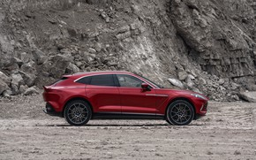 Picture Aston Martin, side view, crossover, DBX, 2020