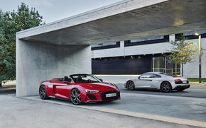 Picture Audi, pair, Audi R8, Coupe, Spyder, V10, 2020, RWD