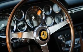 Picture Salon, Speedometer, Ferrari, Classic, The wheel, Classic car, Icon, Ferrari 400 Superamerica, The Short Wheelbase …