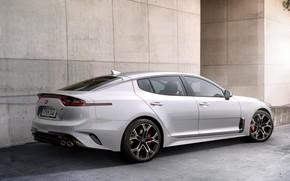 Picture white, wall, KIA, Kia, the five-door, Stinger, Stinger GT, fastback, KIΛ