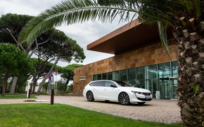 Picture car, machine, summer, clouds, trees, clouds, house, Palma, overcast, the building, vacation, summer, house, weather, …