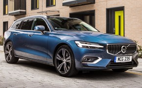Picture car, machine, street, lights, Volvo, Volvo, drives, side, blue, wheel, universal, stylish, Volvo V60, Volvo …