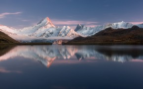Picture mountains, lake, mountains, lake, Alps, Alps, Valery Shcherbina, Bachalpsee, Bahalpsee