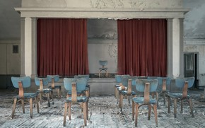 Picture scene, chairs, hall