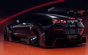 Picture Auto, Black, Corvette, Machine, Car, Rendering, Stingray, Corvette Stingray, Sports car, Transport & Vehicles, Chevrolet …