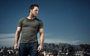 Picture look, male, Chris Pratt, the city
