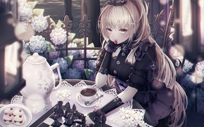 Picture girl, crown, chess, Queen