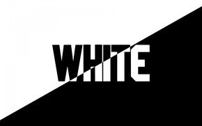 Picture contrast, the word, black and white, black and white