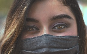 Picture girl, eyes, face, mask, covid19