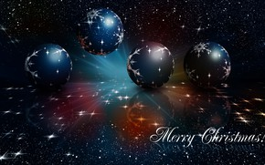 Picture space, stars, balls, rays, light, night, space, reflection, lights, the dark background, the inscription, balls, …