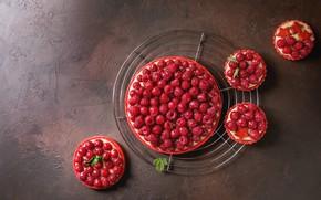 Picture berries, raspberry, pie, cake, cream, dessert, Natasha Breen