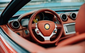 Picture the wheel, supercar, salon, upholstery