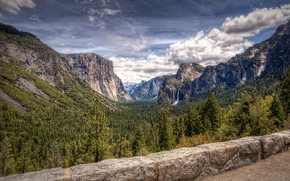 Picture forest, mountains, photo, waterfall, CA, USA, Yosemite