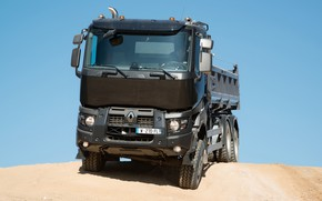 Picture sand, the sky, Renault, body, dump truck, triaxial, Renault Trucks, K-series