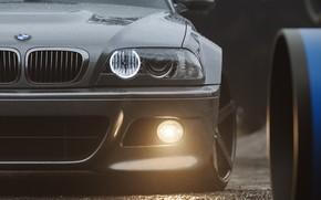 Picture Auto, Headlight, BMW, Machine, Grey, Car, Render, Silver, E46, BMW M3, BMW M3 E46, Transport …