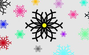 Picture pattern, paint, snowflake